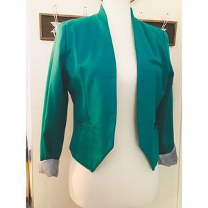Cynthia rowley blue green blazer